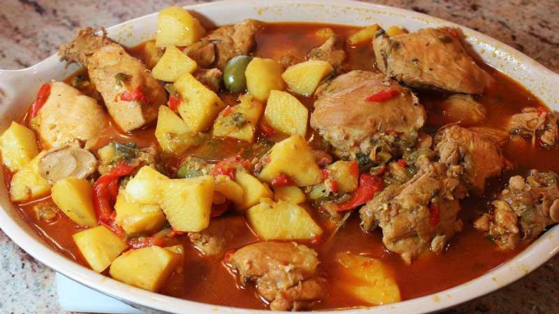 receta de fricase de pollo cubano