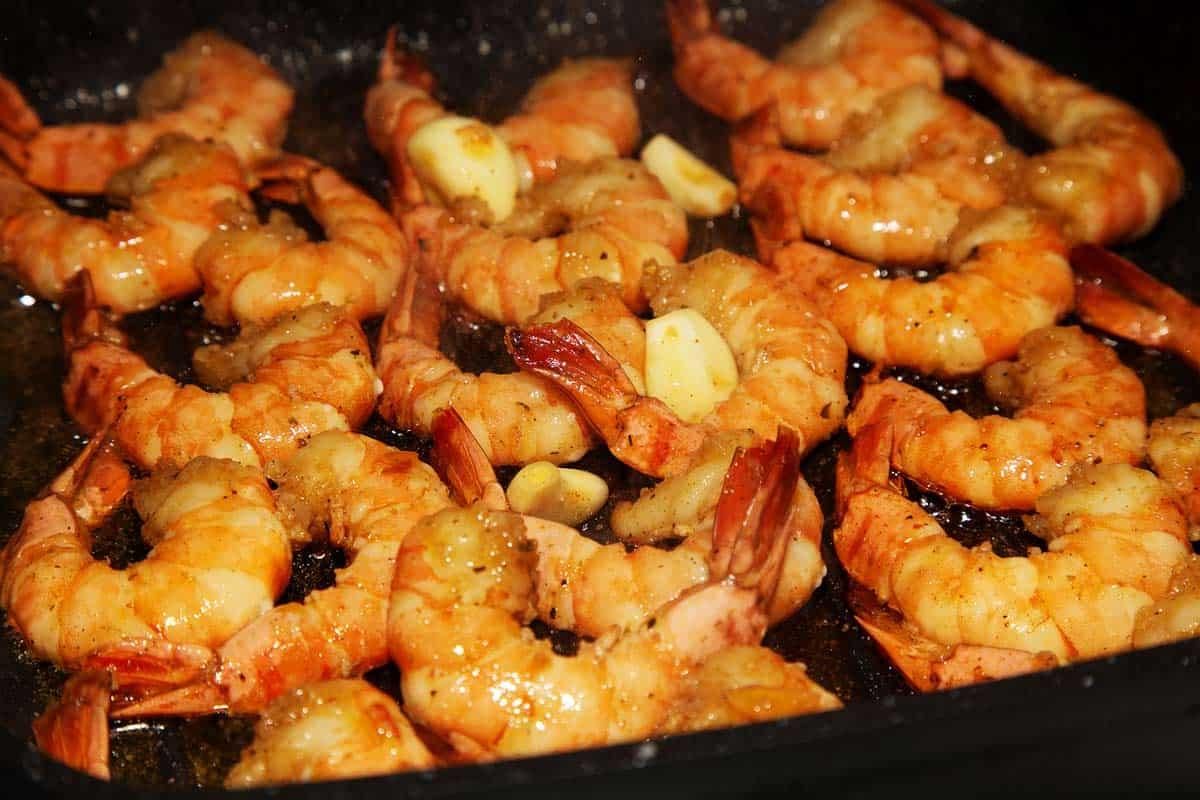 camarones al ajillo receta