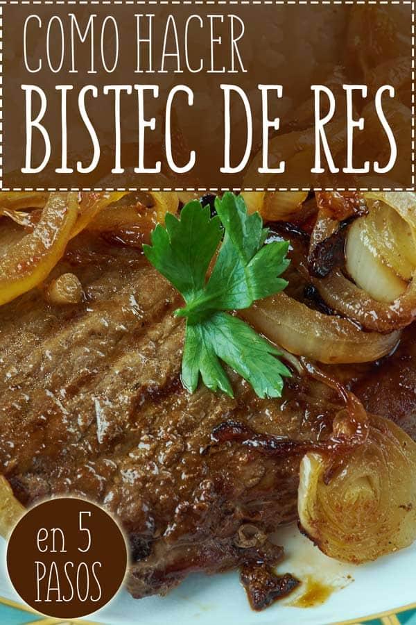 bistec de res receta