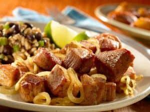 Masas de cerdo fritas
